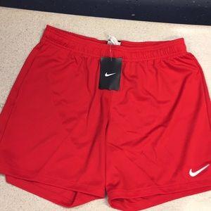 Nike Women's red soccer shorts